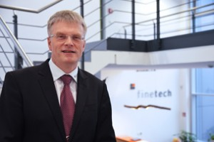 Dipl. Ing. Gunter Kürbis, managing director at Finetech, the leading manufacturer of high-precision assembly systems for bonding and rework technologies in the semiconductor industry